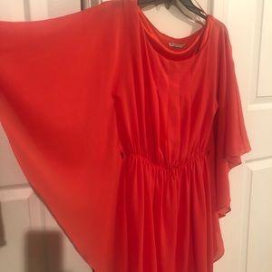 Eliza J Orange Flowy Dress